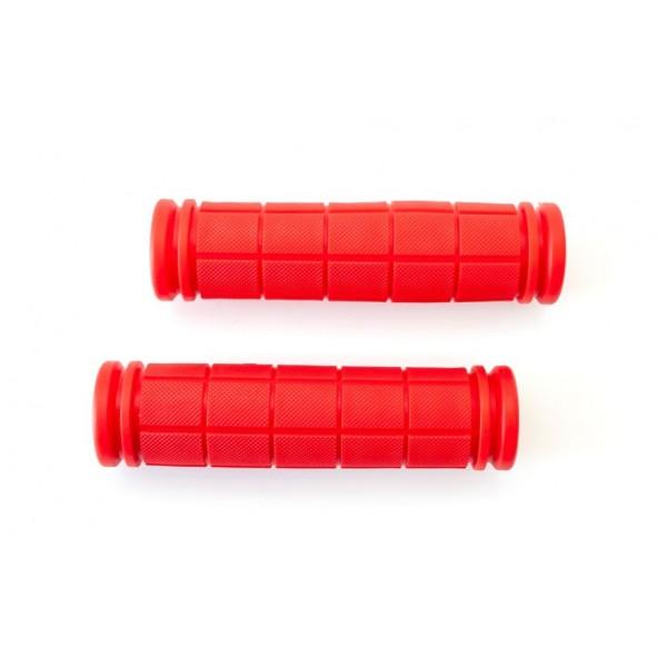 Грипсы L127мм BRAVVOS FL-368 резиновые красные