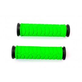 Грипсы L122мм BRAVVOS FL-424 резиновые черно-зеленые
