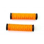 Грипсы L122мм BRAVVOS FL-424 резиновые черно-оранжевые
