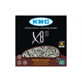 ЛАНЦЮГ KMC X8.93 1/2Х3/32Х116L, 8ШВ., KMC CHAINS