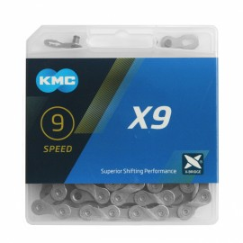Цепь KMC X9 с замком, 116 звеньев, 9 звезд