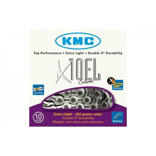 ЛАНЦЮГ KMC 10SP X10-EL SILVER 1/2X11/128X114L, KMC CHAINS