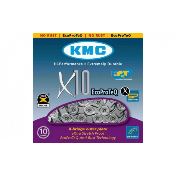 ЛАНЦЮГ KMC 10SP X10-1EPT (EPT) 1/2X11/128X114L, KMC CHAINS