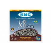 ЛАНЦЮГ KMC 8SP X8EPT (EPT) 1/2X3/32X116L, KMC CHAINS.
