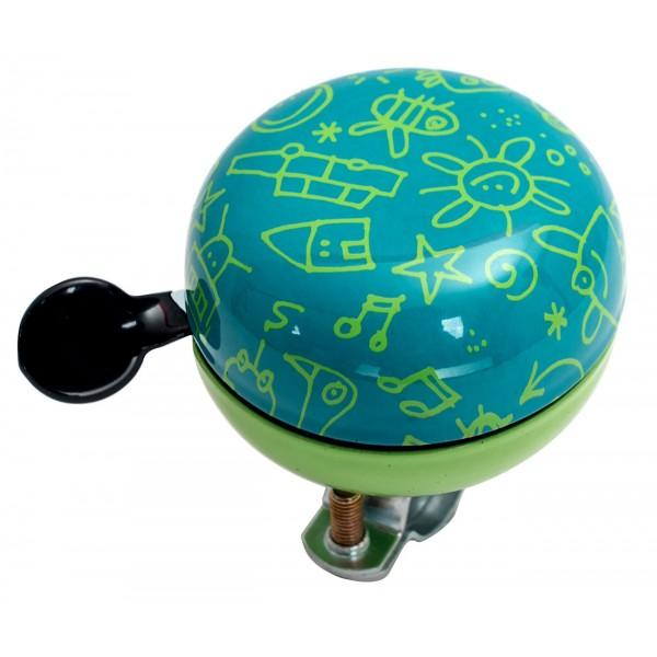 Звонок Дин-донг Green Cycle GBL-359 зеленый 60мм