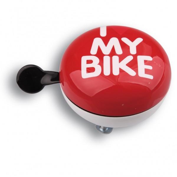 Динг-Донг Green Cycle GBL-458 I love my bike диаметр 80мм Красый