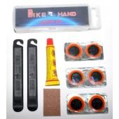 Ремонтный набор Bike Hand YC-129A для камер ( латки, клей, наждак, бортировки)