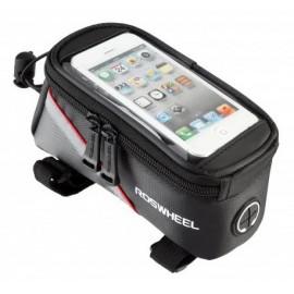 """Сумка на раму под смартфон до 6.5"""" Roswheel 12496L-C5 черный/красный"""