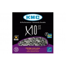 ЛАНЦЮГ KMC 10SP X10-1 SILVER/BLACK 1/2X11/128X114L, KMC CHAINS